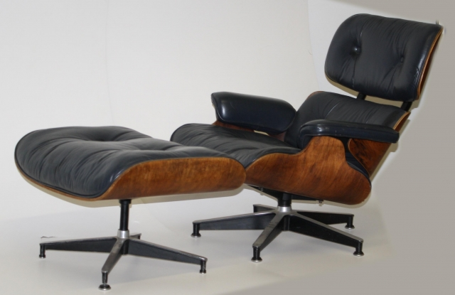 Ca 1965 Herman Miller Eames Rosewood Armchair And Ottoman $2,587 (and 50  Cents).JPG