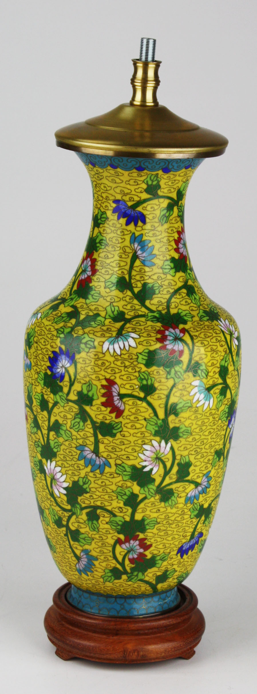 Awesome Chinese Cloisonne Lamp Base.JPG