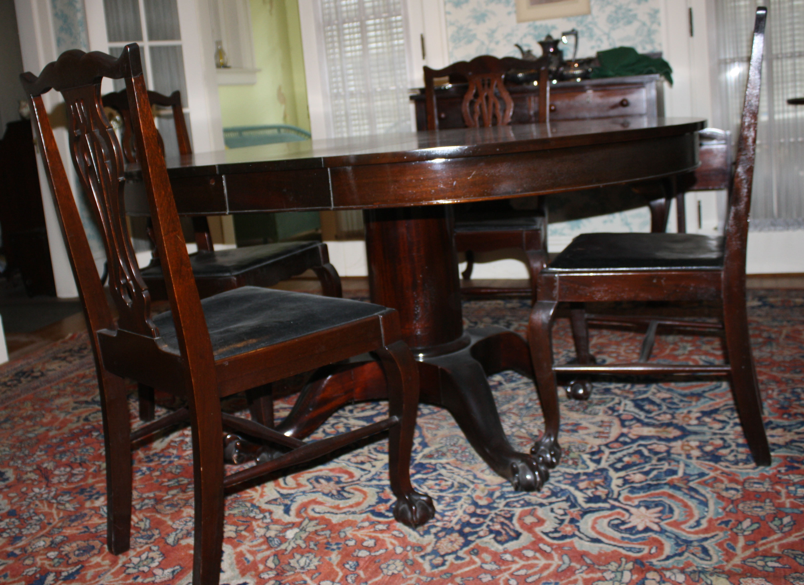 chippendale custom mahogany dining room set jpg merrill