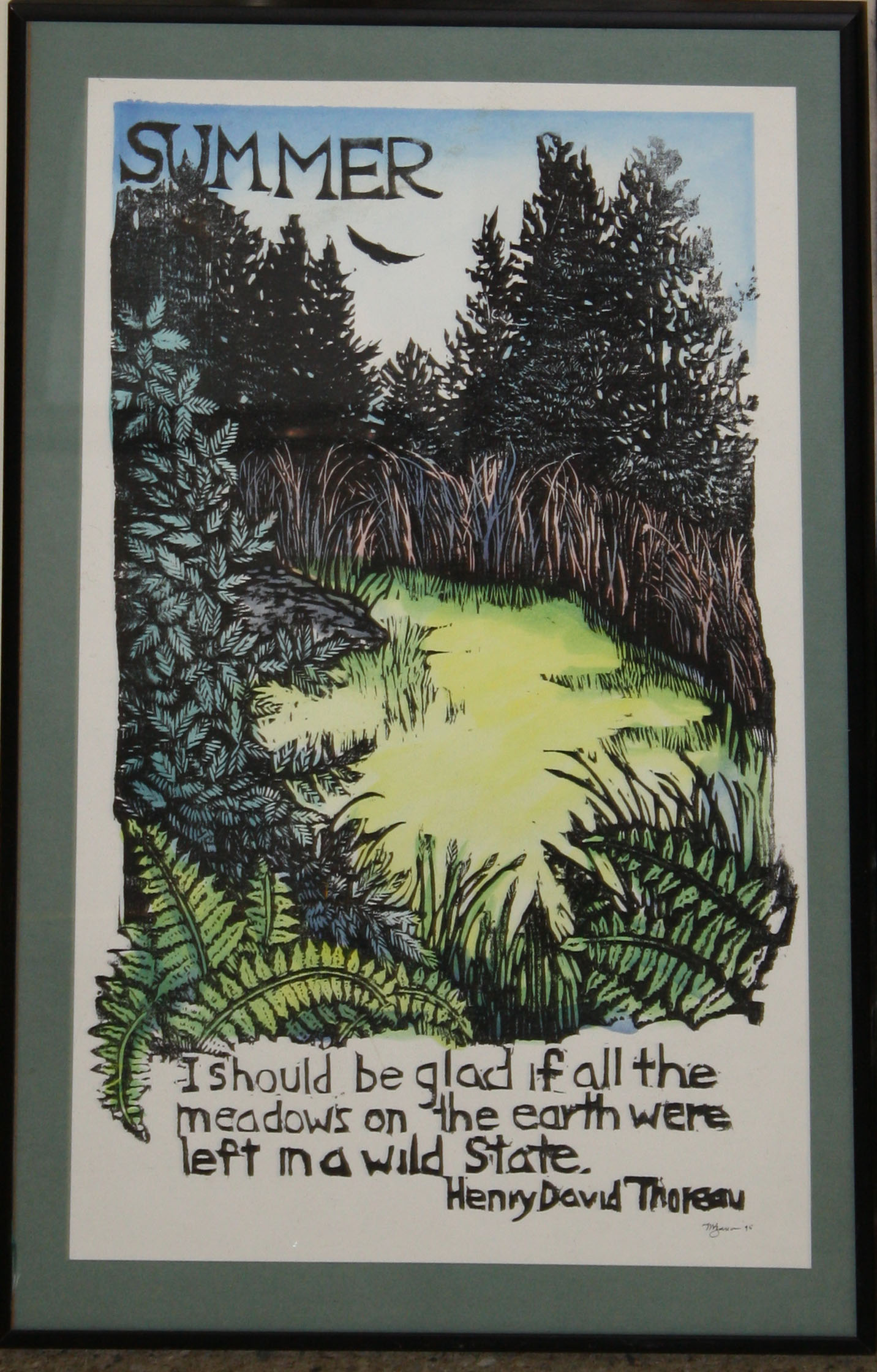 Mary Azarian Woodblock Print Jpg Merrill S Auction