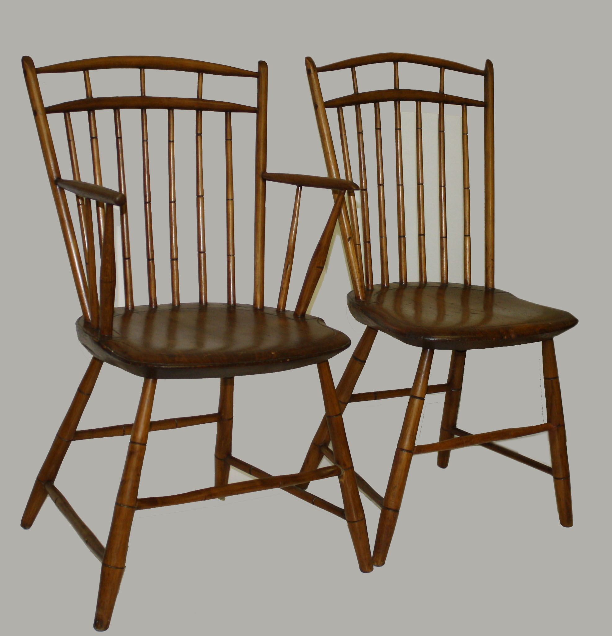 Set Of Seven Birdcage Windsor Chairs.JPG
